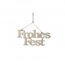 wholesale Decoration: Wooden hanger Merry Christmas length 30cm, heigh